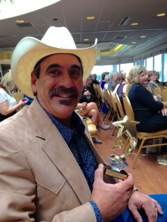 Seated after award @ 2015 Country Blast Radio Award Show